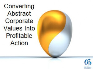 convert corporate values